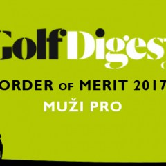 GOLF DIGEST ORDER OF MERIT 2017 – MUŽI PRO (k 30.6.2017)