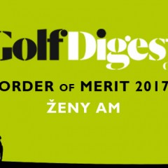 GOLF DIGEST ORDER OF MERIT 2017 – ŽENY AM (k 30.6.2017)