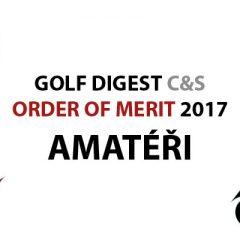 GOLF DIGEST C&S ORDER OF MERIT 2017 – AMATÉŘI (k 31.12.2017)